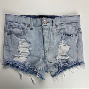 Express Distressed High Rise Shorts Size 6